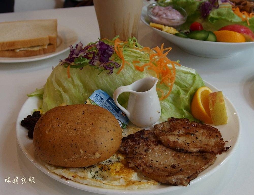 台中北區|50米深嵐博館店 雞腿排沙拉推薦必點  科博館 早午餐