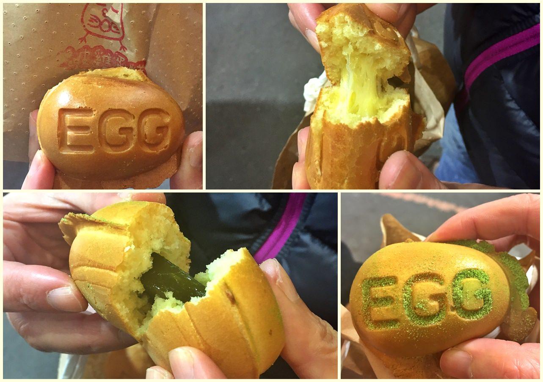 台中北區|小雞吃蛋糕 脆皮雞蛋糕 麻糬、拔絲內餡 一中商圈美食