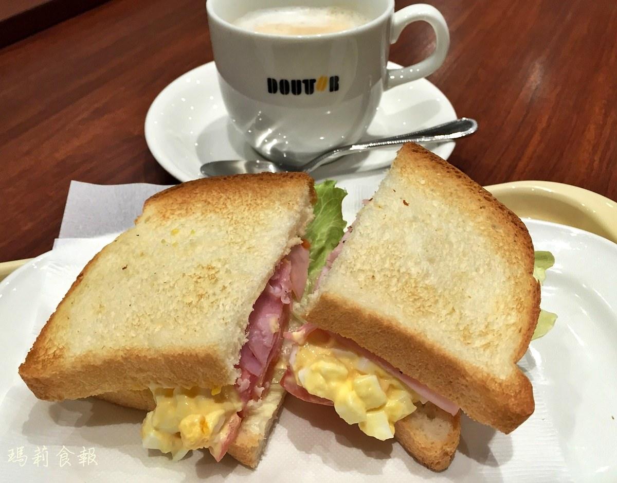 京都四条美食|DOUTOR Coffee自助旅行西式平價早餐推薦