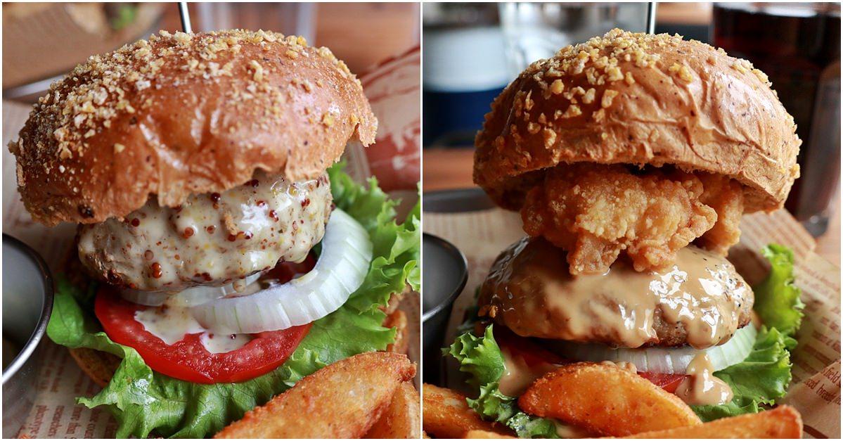 台中北區|先吃肉 層層疊疊用心製作的美式漢堡好看也好吃 一中美食